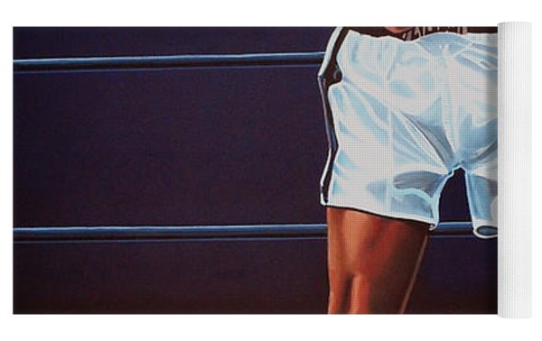 Muhammad Ali Versus Sonny Liston Yoga Mat by Paul Meijering
