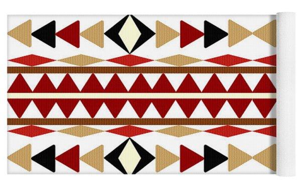Navajo White Pattern Yoga Mat