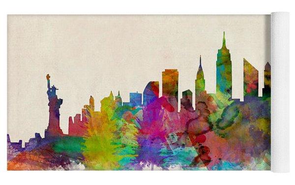 New York City Skyline Yoga Mat by Michael Tompsett
