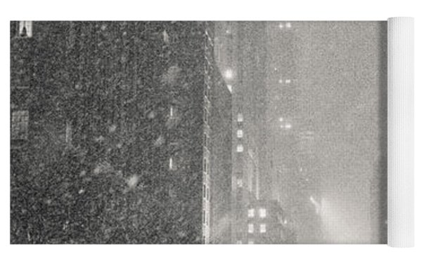 New York City - Winter Night Overlooking The Chrysler Building Yoga Mat by Vivienne Gucwa