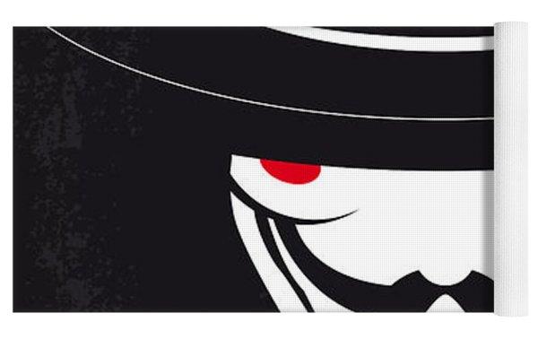 No319 My V For Vendetta Minimal Movie Poster Yoga Mat by Chungkong Art