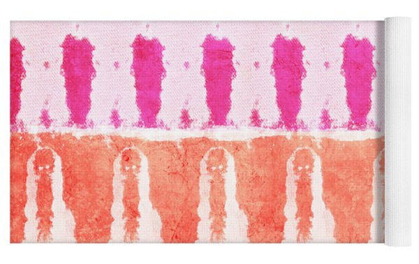 Pink And Orange Tie Dye Yoga Mat