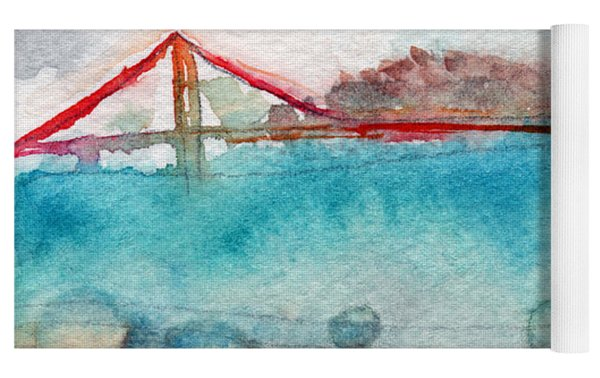 Rainy Day In San Francisco  Yoga Mat by Linda Woods