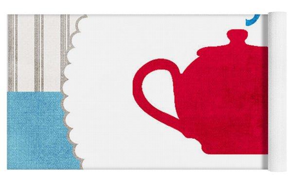 Red Teapot Yoga Mat