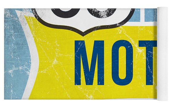 Route 66 Motel Yoga Mat