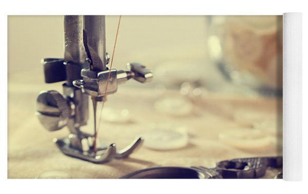Sewing Items Yoga Mat by Amanda Elwell