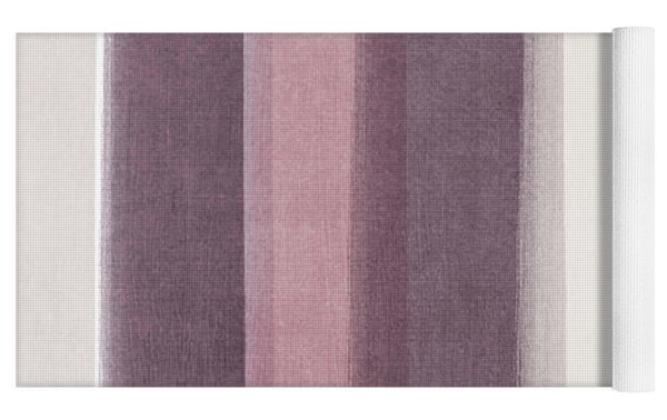 Shades Of Purple- Contemporary Abstract Painting Yoga Mat by Linda Woods