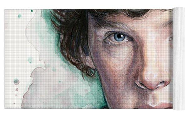 Sherlock Holmes Portrait Benedict Cumberbatch Yoga Mat
