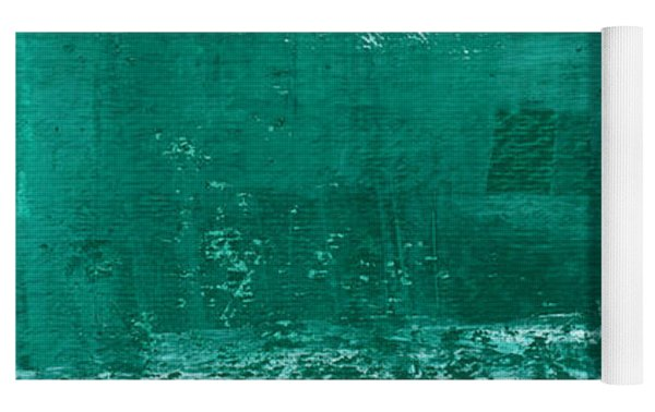 Soothing Sea - Abstract Painting Yoga Mat by Linda Woods