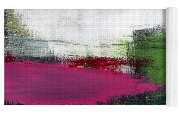 Spring Became Summer- Abstract Painting  Yoga Mat by Linda Woods