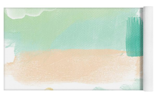 Spumoni- Abstract Painting Yoga Mat by Linda Woods