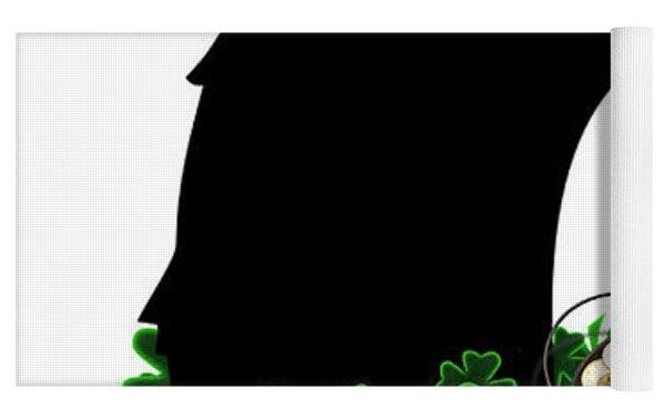St Patrick's Day - Le Chat Noir Yoga Mat by Gravityx9  Designs