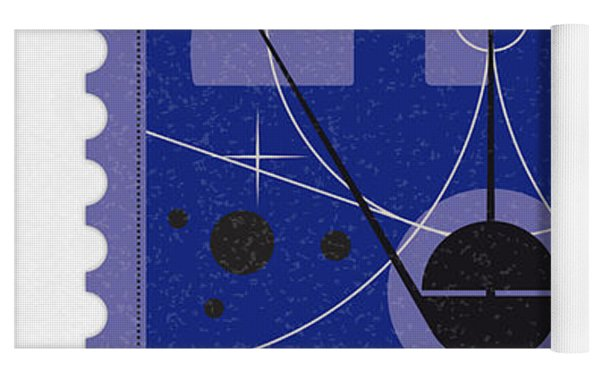 Starschips 21- Poststamp - Sputnik 2 Yoga Mat