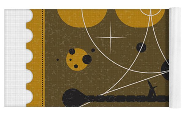 Starschips 55-poststamp -discovery One Yoga Mat by Chungkong Art