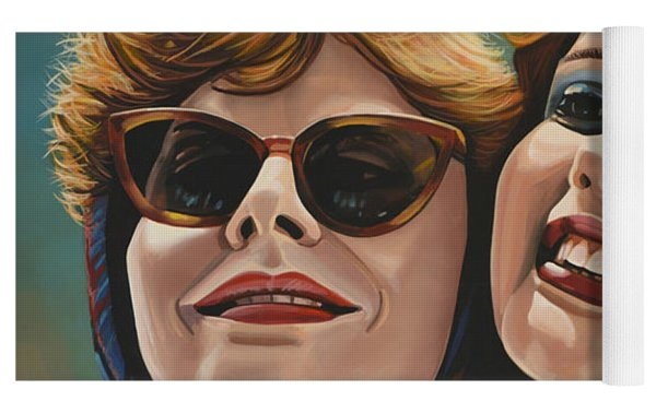 Susan Sarandon And Geena Davies Alias Thelma And Louise Yoga Mat