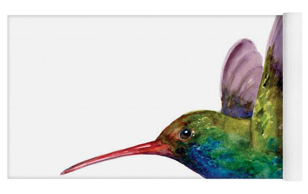 Swooping Broad Billed Hummingbird Yoga Mat