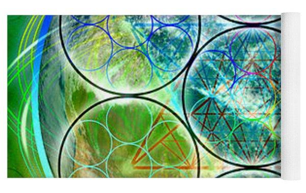 Tetra64 Polarity Earth Yoga Mat by Derek Gedney