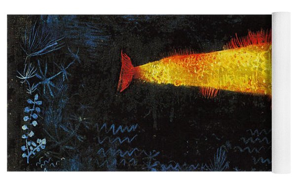 The Goldfish Yoga Mat by Paul Klee