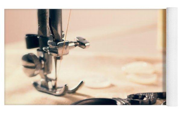 Vintage Sewing Machine Yoga Mat by Amanda Elwell