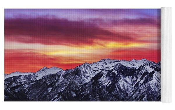 Wasatch Sunrise 2x1 Yoga Mat by Chad Dutson