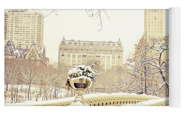 Winter - New York City - Central Park Yoga Mat by Vivienne Gucwa