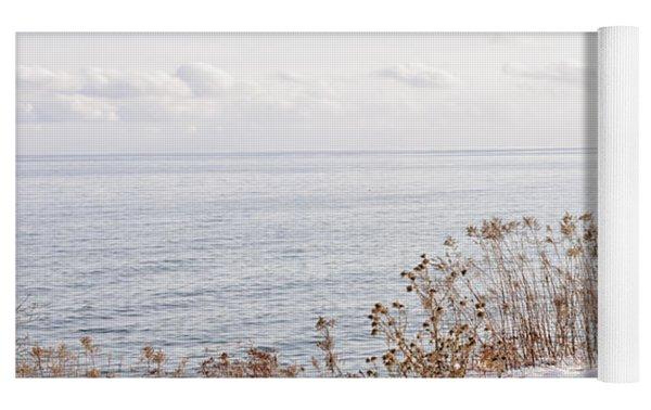 Winter Shore Of Lake Ontario Yoga Mat by Elena Elisseeva