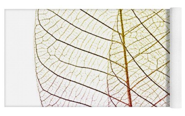 Skeleton Leaves Yoga Mat by Elena Elisseeva
