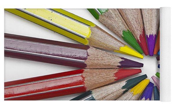 Coloured Pencil Yoga Mat