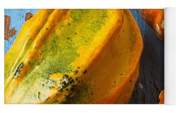 Autumn Gourds Still Life Yoga Mat by Garry Gay