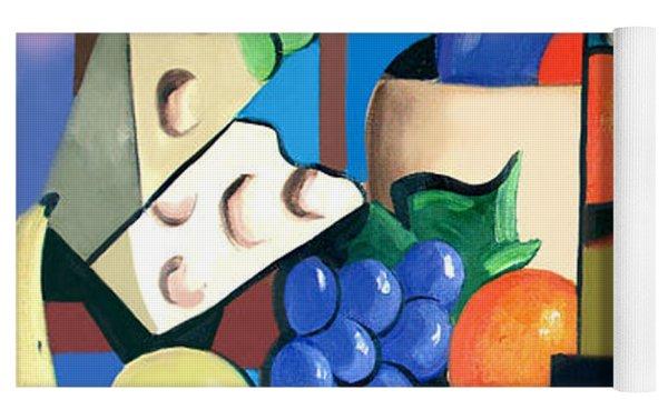 Bottle Of Wine Fruit Of The Vine Yoga Mat
