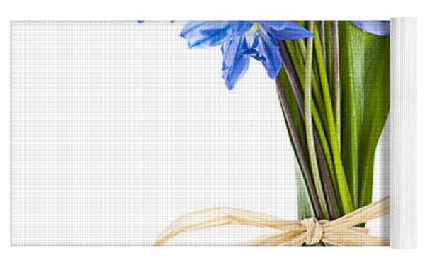 Blue Wildflower Bouquet Yoga Mat