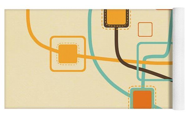 Graphic Tree Pattern Yoga Mat by Setsiri Silapasuwanchai