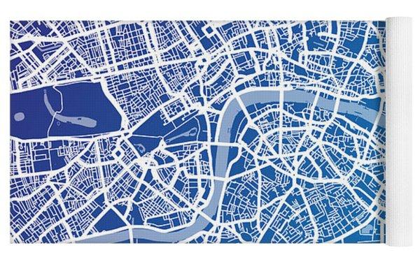 London England Street Map Yoga Mat
