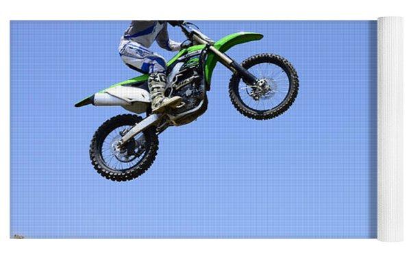 Motocross Going Skyward Yoga Mat