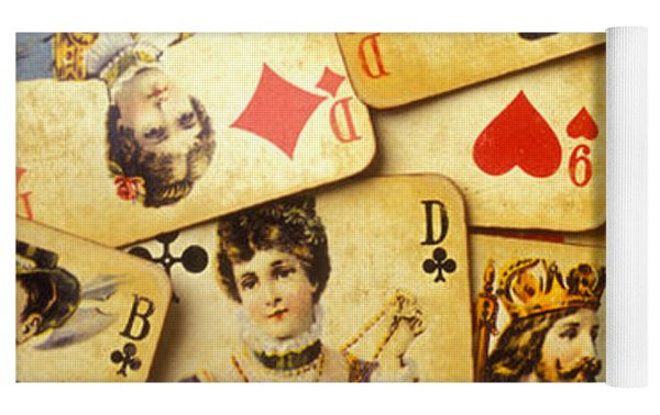 Old Playing Cards Yoga Mat