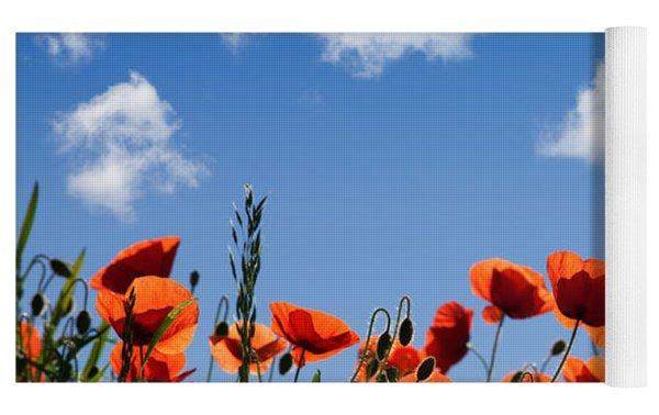 Poppy Flowers 05 Yoga Mat by Nailia Schwarz