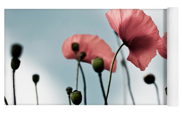 Poppy Flowers 07 Yoga Mat by Nailia Schwarz