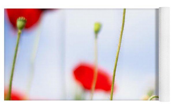 Poppy Flowers 12 Yoga Mat by Nailia Schwarz