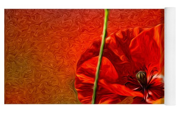 Red Poppy Flowers 08 Yoga Mat