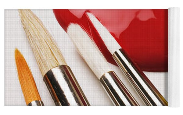 Spilt Paint And Brushes  Yoga Mat