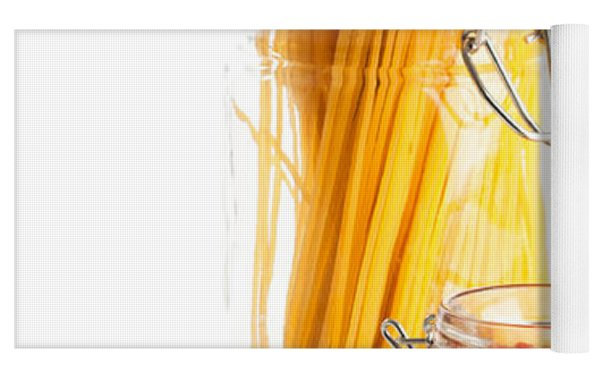 Tomatoes Sauce And  Spaghetti Pasta  Yoga Mat