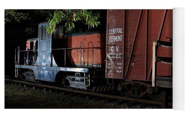 Working On The Railroad 2 Yoga Mat by Frank Pietlock
