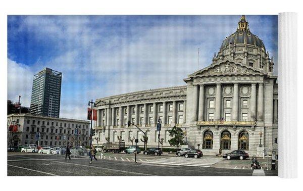 City Hall Yoga Mat by Nancy Ingersoll