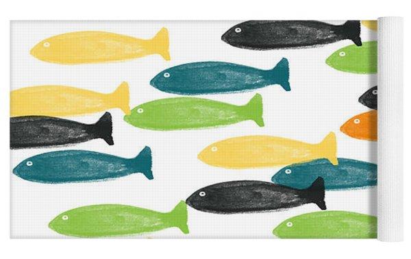 Colorful Fish  Yoga Mat
