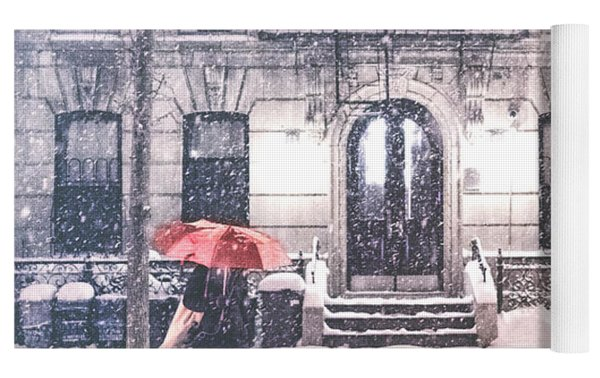 New York City Snow Yoga Mat by Vivienne Gucwa
