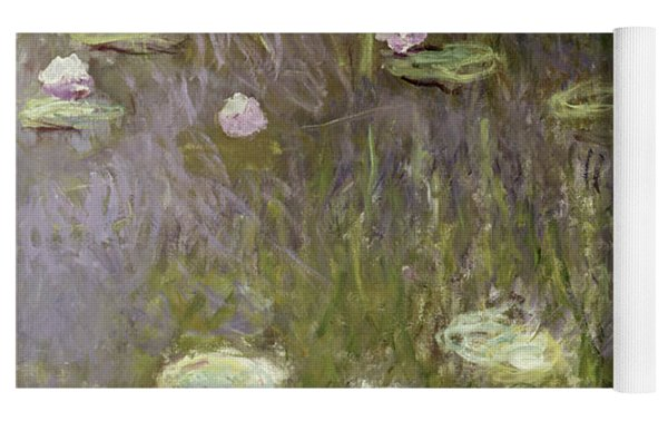 Waterlilies At Midday Yoga Mat by Claude Monet