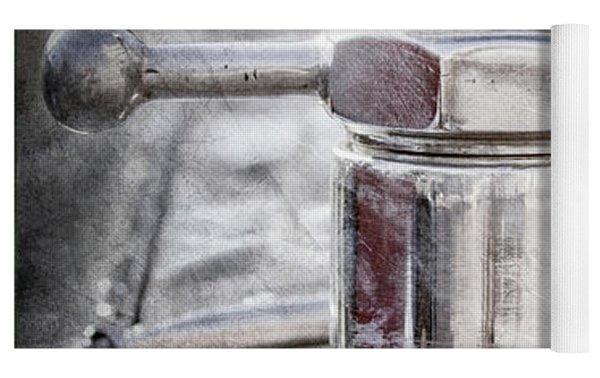 1920 Pierce-arrow Model 48 Coupe Hood Ornament -2829ac Yoga Mat by Jill Reger