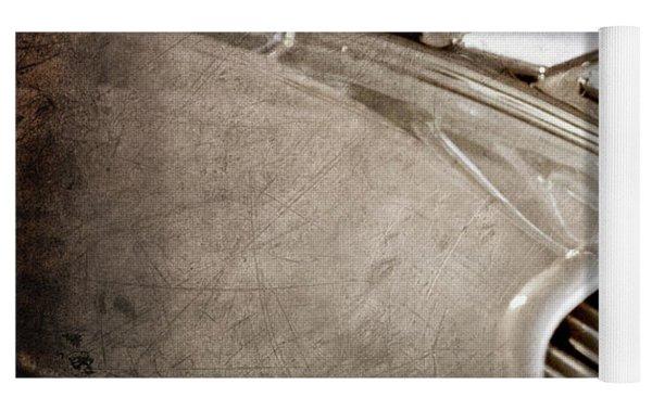 1934 Desoto Airflow Coupe Hood Ornament -2404ac Yoga Mat by Jill Reger