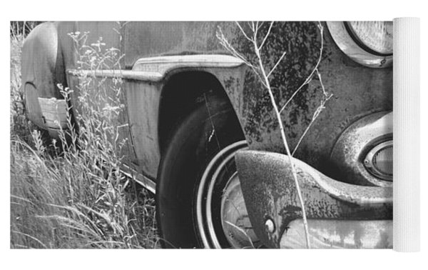 1951 Chevrolet Power Glide Black And White 2 Yoga Mat by Lisa Wooten