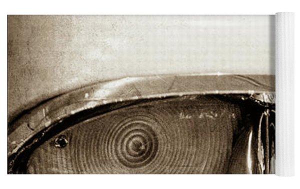 1957 Mercury Turnpike Cruiser Emblem -0749s Yoga Mat by Jill Reger